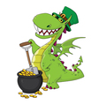 dragon leprechaun vector image