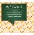 back to school green board with pencil pattern vector image