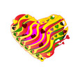 beautiful heart for valentine day with abstract vector image