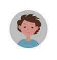 embarrassed emoticon shy expression icon vector image