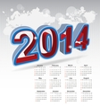 New year 2014 calendar vector image