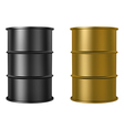 Oil barrels isolated on white background vector image