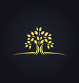 plant gold tree ecology logo vector image
