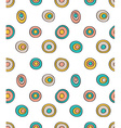 Retro seamless pattern geometric background Polka vector image