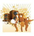 rock band illustration vector image