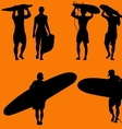 surfers vector image