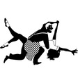 Swing dancing silhouette vector image