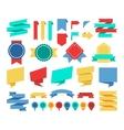 ribbons and labels flat set vector image