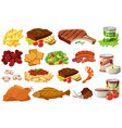 different kinds of healthy food vector image