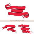 Vintage red ribbon vector image