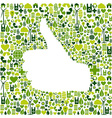 I like go green icons in hand vector image