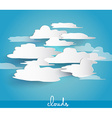 Abstract cloud bubbles with space for your text vector image