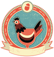 Chicken head label vector image