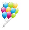 a bunch of balloons vector image