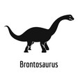 brontosaurus icon simple style vector image