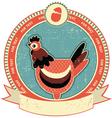Chicken head label vector image