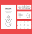 Christmas Business Set vector image