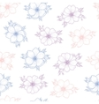 Floral seamless pattern of flower anemone vector image
