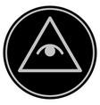 pyramid eye black coin vector image