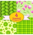 spring seamless backgrounds vector image