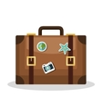 suitcase old travel vacation closed vector image