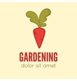 Garden center emblem or label badge logo vector image vector image