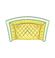Football goal icon cartoon style vector image