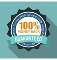 Label Sign 100 Money Back Quality in Flat Modern vector image