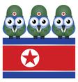 NORTH KOREA FLAG ARMY vector image