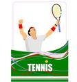 al 0747 tennis 01 vector image vector image