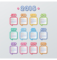 speech bubbles calendar vector image