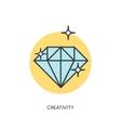 Flt diamond lined icon vector image