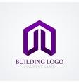 logo design building vector image