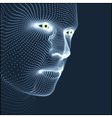 Head of the Person from a 3d Grid Human Head Model vector image