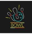 Neon Symbol Bowling Center vector image