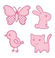 Applique prints for baby girls set vector image