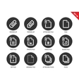 Attached file icons on white background vector image