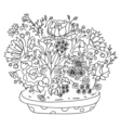 Beautiful doodle art flowers vector image