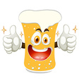 Cheerful glass of beer vector image