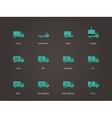 Delivery and cargo truck icons set vector image