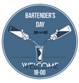 invitation international bartenders day vector image