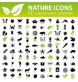 nature icons collection vector image