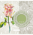 pattern with pink watercolor rose vector image