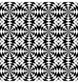 Seamless background in black and white vector image