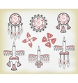 set of ethnic Indian elements EPS10 vector image
