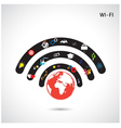 World connections network design vector image