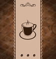 Vintage background for coffee menu coffee bean vector image