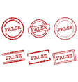 False stamps vector image vector image
