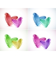 Set backgrounds with bubbles Of Hearts vector image vector image