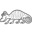 chameleon cartoon coloring page vector image vector image